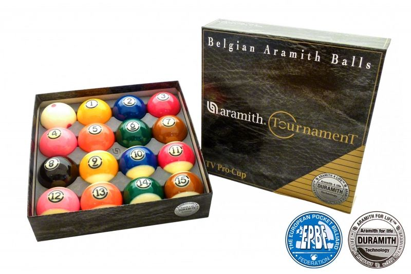 Pool Ball Set Quot Aramith Tournament Pro Cup Tv Quot 57 2mm